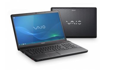 Ноутбук Sony VAIO VPCEJ2S1R/B - спереди и сзади