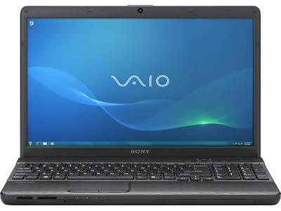 Ноутбук Sony VAIO VPCEJ2S1R/B - спереди