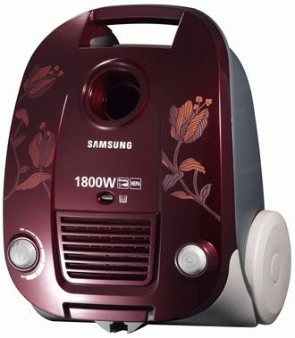 Пылесос Samsung SC4188 (VCC4188V3C/RVC) Vinous - вид сбоку