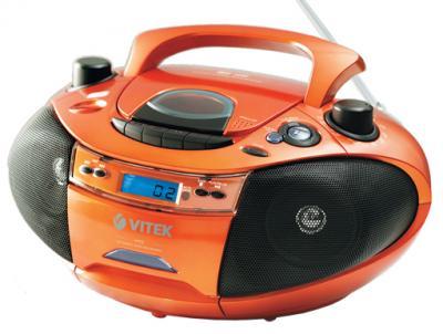 Магнитола Vitek VT-3478 - общий вид (оранжевый)