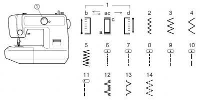 Швейная машина Brother X-5 - 14 швейных операций