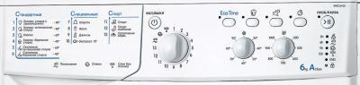 Стиральная машина Indesit IWSC 6105 - панель управления