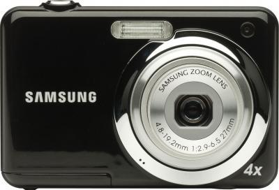 Компактный фотоаппарат Samsung ES9 (EC-ES9ZZZBABRU) Black - вид спереди