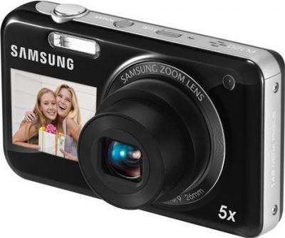 Компактный фотоаппарат Samsung PL120 (EC-PL120ZFPBRU) Black - общий вид
