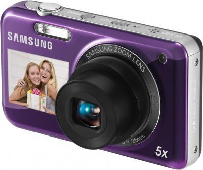Компактный фотоаппарат Samsung PL120 (EC-PL120ZFPLRU) Violet - общий вид