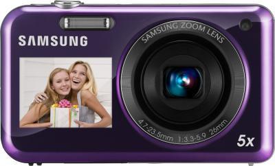 Компактный фотоаппарат Samsung PL120 (EC-PL120ZFPLRU) Violet - вид спереди