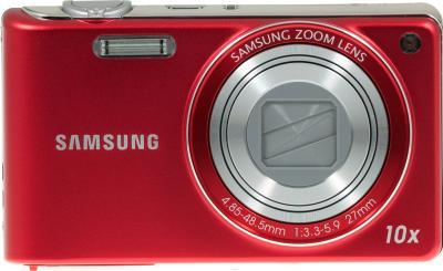 Компактный фотоаппарат Samsung PL210 (EC-PL210ZBPRRU) Red - вид спереди