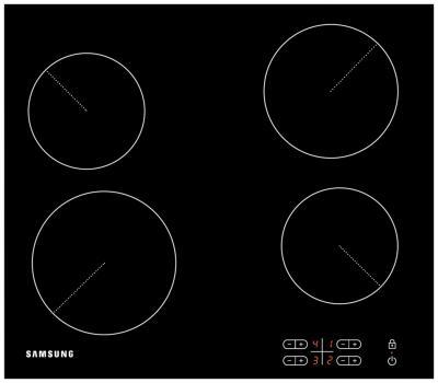 Электрическая варочная панель Samsung C61R2AEE - вид сверху