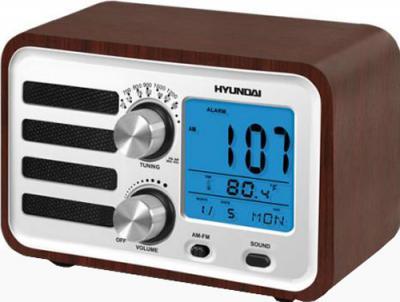 Радиоприемник Hyundai H-1628 (Dark Wood) - вид сбоку