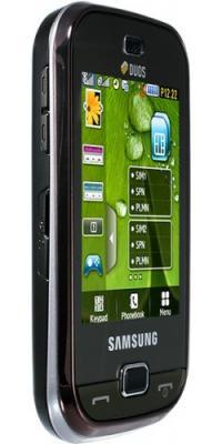 Мобильный телефон Samsung B5722 Brown - общий вид