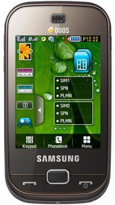 Мобильный телефон Samsung B5722 Brown - вид спереди