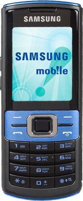 Мобильный телефон Samsung C3011 Black with Blue (GT-C3011 EBASER) - вид спереди