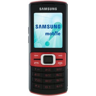 Мобильный телефон Samsung C3011 Black with Red (GT-C3011 PRASER) - вид спереди