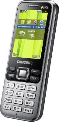 Мобильный телефон Samsung C3322i Dual (черный) - общий вид
