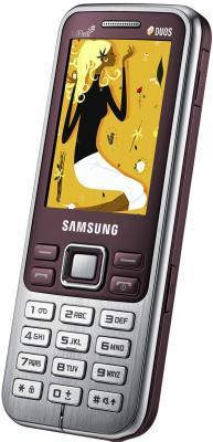 Мобильный телефон Samsung C3322 (красный) - вид сбоку