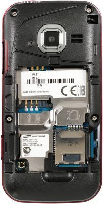 Мобильный телефон Samsung C3752 Red (GT-C3752 WRASER) - вид без крышки