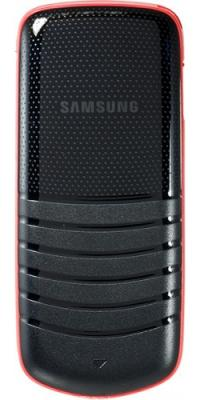 Мобильный телефон Samsung E1080 Black with Red (GT-E1080 ZRWSER) - вид сзади
