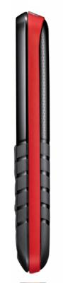 Мобильный телефон Samsung E1080 Black with Red (GT-E1080 ZRWSER) - вид сбоку