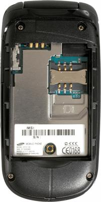 Мобильный телефон Samsung E1150 Black (GT-E1150 TKISER) - с открытой крышкой