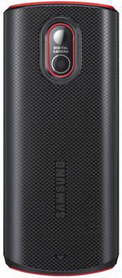 Мобильный телефон Samsung E2121 Black with Red (GT-E2121 ARBSER) - вид сзади