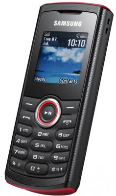 Мобильный телефон Samsung E2121 Black with Red (GT-E2121 ARBSER) - общий вид