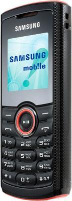 Мобильный телефон Samsung E2121 Black with Red (GT-E2121 ARBSER) - вид сбоку