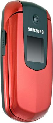 Мобильный телефон Samsung E2210 Red (GT-E2210 WRASER) - вид сбоку