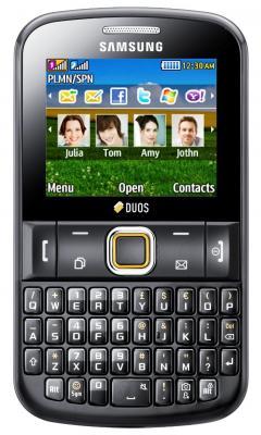 Мобильный телефон Samsung E2222 Black (GT-E2222 LKASER) - вид спереди