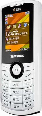 Мобильный телефон Samsung E2232 White (GT-E2232 IWASER) - вид сбоку
