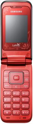 Мобильный телефон Samsung E2530 Black with Red (GT-E2530 SRFSER) - в открытом виде