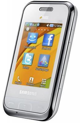 Мобильный телефон Samsung E2652 Champ White - общий вид