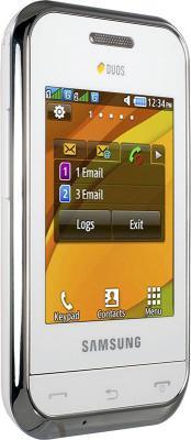 Мобильный телефон Samsung E2652 Champ White - вид сбоку
