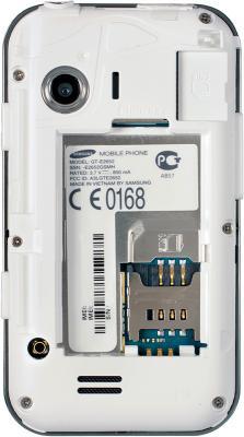 Мобильный телефон Samsung E2652 Champ White - с открытой крышкой