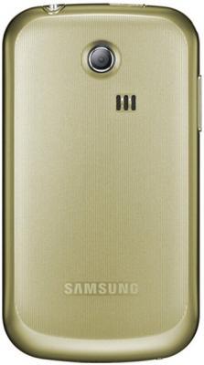 Мобильный телефон Samsung S3350 Gold - вид сзади