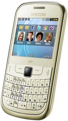Мобильный телефон Samsung S3350 Gold - общий вид