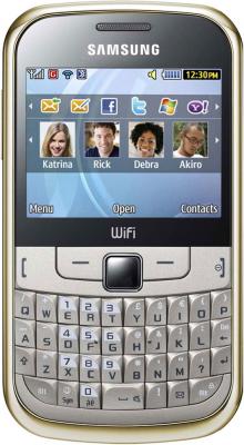Мобильный телефон Samsung S3350 Gold - вид спереди