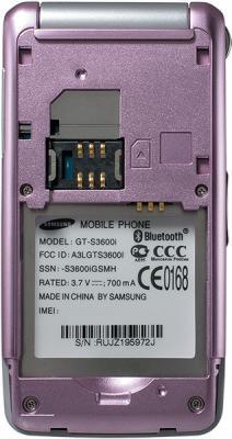 Мобильный телефон Samsung S3600 Pink with Pattern (GT-S3600 TIISER) - с открытой крышкой