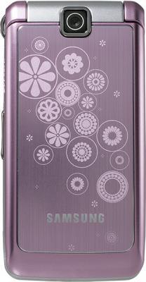 Мобильный телефон Samsung S3600 Pink with Pattern (GT-S3600 TIISER) - вид спереди