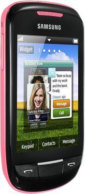 Мобильный телефон Samsung S3850 Corby II Pink - вид сбоку