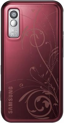 Мобильный телефон Samsung S5230 Star Wine Red with Pattern (GT-S5230 GRMSER) - вид сзади