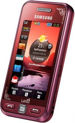 Мобильный телефон Samsung S5230 Star Wine Red with Pattern (GT-S5230 GRMSER) - общий вид