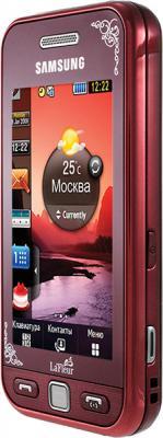 Мобильный телефон Samsung S5230 Star Wine Red with Pattern (GT-S5230 GRMSER) - вид сбоку