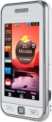 Мобильный телефон Samsung S5230 Star White (GT-S5230 OWMSER) - вид сбоку