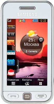 Мобильный телефон Samsung S5230 Star White (GT-S5230 OWMSER) - вид спереди