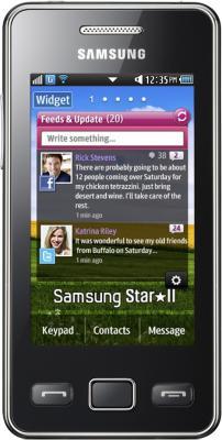 Мобильный телефон Samsung S5260 Star II Black (GT-S5260 OKASER) - вид спереди