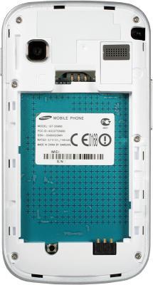 Смартфон Samsung S5660 Galaxy Gio White (GT-S5660 SWASER) - с открытой крышкой