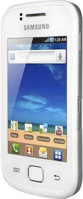 Смартфон Samsung S5660 Galaxy Gio White (GT-S5660 SWASER) - вид сбоку