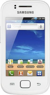 Смартфон Samsung S5660 Galaxy Gio White (GT-S5660 SWASER) - вид спереди