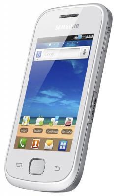 Смартфон Samsung S5660 Galaxy Gio White (GT-S5660 SWASER) - общий вид