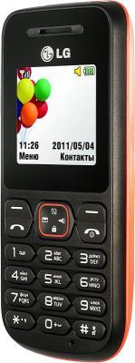 Мобильный телефон LG A100 Red - вид сбоку